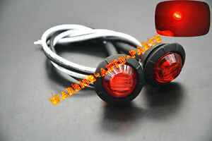 2x 3 4 Marker Lights Red Triple Diode Led Truck Trailer Clearance Indicator Mm