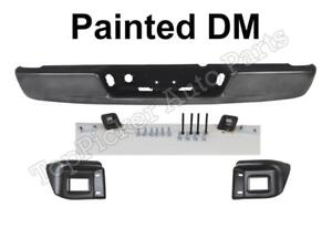 Painted Gray Dm Rear Bumper Bar Pad Out Bracket Assy For 2002 08 Ram 1500 3500