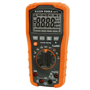 New Klein Tools mm700 Digital Multimeter Trms Low Impedance W Carrying Pouch