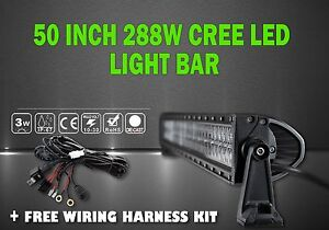 50 Inch Roof Led Light Bar Spot And Flood Combo With Wiring Kit