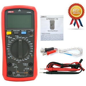 Uni t Ut890c Digital Lcd Multimeter Ac Dc Lcd Backlight Automotive Temperature