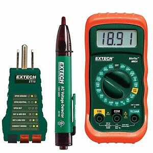Electrical Test Kit With Receptacle Tester Non contact Voltage Detector Safety