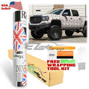 union Jack Uk England Flag Sticker Bomb Vinyl Wrap Sticker Decal Sheet Film
