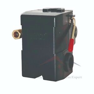 New Pressure Switch For Air Compressor 95 125 Four Port W Unloader On off Lever