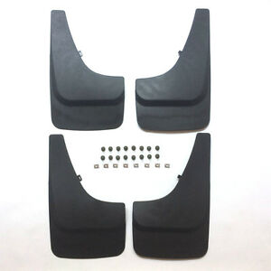 4 Mud Flaps Universal Splash Guards Fits Many For Front Rear Includes Hardware