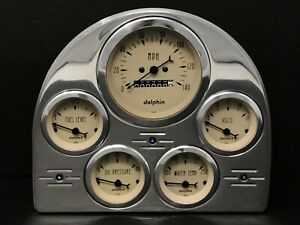 1952 1953 Ford Car Gauge Cluster Tan