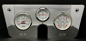 1967 1968 1969 1970 1971 1972 Chevy Truck 3 Gauge Cluster White