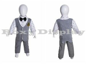 Fiberglass Egghead Infant Mannequin Dress Form Display miu4 mz