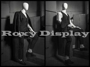 Male Mannequin Flexible Head Arms And Legs Dress Form Display hm01weg mz