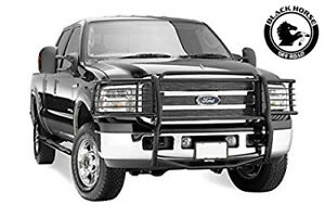 Black Horse Fits 99 04 Ford F25 35 45 550 Super Duty Black Grille Brush Guard
