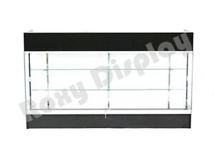 Black Ledgetop Counter Display Showcase Store Fixture Knock Down ltc gl6bk sc