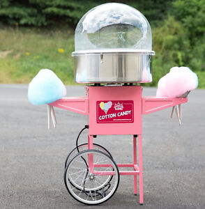 Carnival King With Bubble Cotton Candy Machine Maker Cart Stand Commercial New