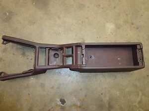 Toyota Supra Mk3 1990 92 Center Console Maroon Shallow Pocket Oem