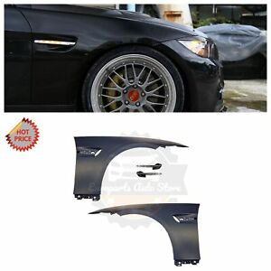Bmw E92 M3 Style Oem Plastic Material Fenders W Led Side Markers For E92 E93 2d