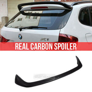 Real Carbon Fiber Rear Roof Spoiler For Bmw 2009 2017 X Drive Series E84 Suv X1