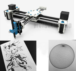 28x20cm Xy Plotter Pen Drawing Laser Engraving Machine 1600mw Writing Signature
