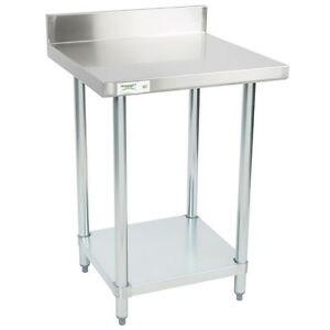 24 X 24 Stainless Steel Work Prep Shelf Table With Backsplash Commercial Nsf
