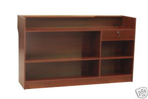 Cherry Ledgetop Counter Display Case Store Fixture Knocked Down ltc6c sc