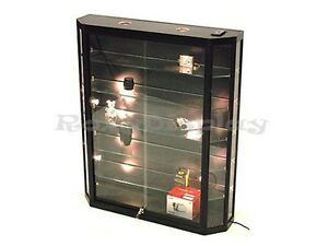 Wall Black Cabinet Retangular Display Case Store Fixture Assembled wc10 12tra bk