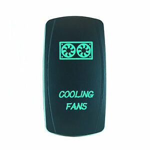 Green 2 Position Laser Etched Rocker Switch Cooling Fans Utv Boat Truck