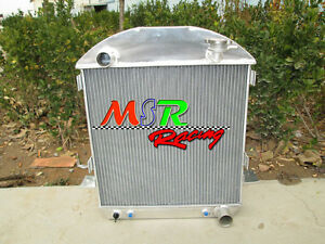 For Ford Model T Chevy Bucket Grill Shells 24 27 Hotrod Aluminum Radiator 3rows