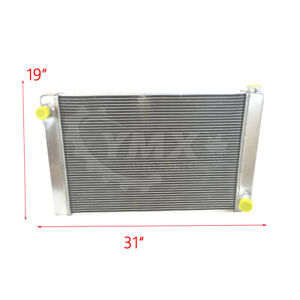 New 31 X 19 X3 Gm Chevy Racing Radiator Full Aluminum 2 Row Universal