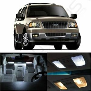 10x Bright White Car Interior Led Light Package For Ford Expedition 2000 2006