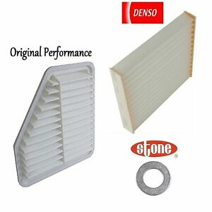 Tune Up Kit Cabin Air Filters Plug Gasket For Toyota Corolla Xrs 2 4l 2008 2010
