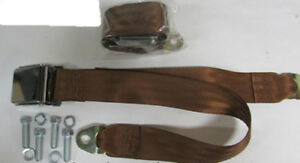 Copper Seat Belt 2 Point Vintage Lap Brown Seat Belts 2 With Mounting Kit 60