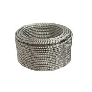 Aleko Steel Cable 1 4 Inch 7x19 Galvanized Aircraft Wire Rope 250 Feet