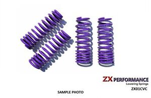 Zx Purple Lowering Springs 2 0 F 2 0 R For 2001 2005 Honda Civic Zx01cvc