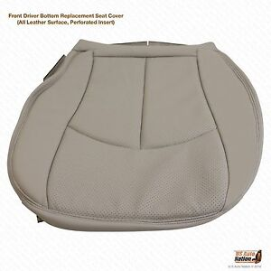 2003 2006 Mercedes E320 E500 Driver Bottom Perforated Leather Seat Cover Gray