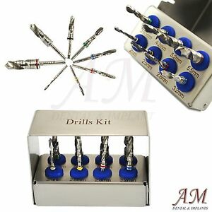 Dental Implant Drills 8pcs Kit External Irrigation Drills Implant Surgery Ce