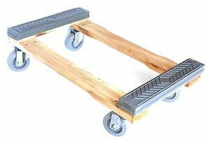 Nk Furniture Movers Dolly Rubber End Caps 4 wheels With Brake rd4tpr