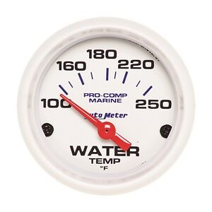 Autometer 200762 Marine Electric Water Temperature Gauge