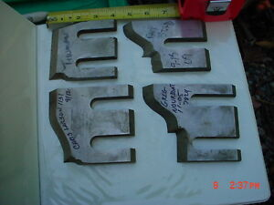 Lot 4 Moulder High Speed Knives Blades stock 2