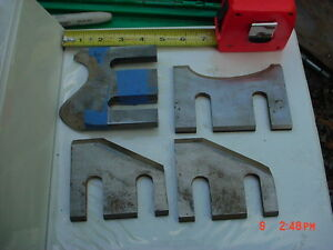 Lot 4 Moulder High Speed Knives Blades stock 6