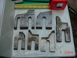 Lot 6 Moulder High Speed Knives Blades stock 11