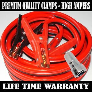 Heavy Duty 20 Ft 2 Gauge Booster Cable Jumping Free Battery Cleaning Brush