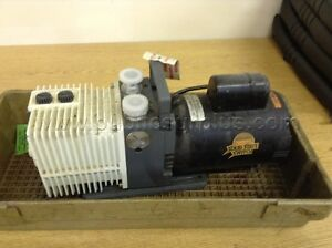 Alcatel Pascal 2005sd Dual Stage Rotary Vane Vacuum Pump W Franklin Motor