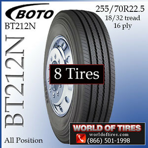 8 Tires Boto Bt212n 255 70r22 5 22 5 Tire Semi Truck Tires 255 70 22 5 25570