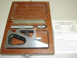 Fowler 52 460 005 0 Planer And Shaper Gage Used B13