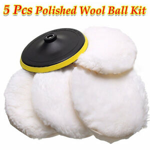 5pcs 7 Wool Buffing Pad Detailing Polishing Polisher Buffer Pad Car Polisher