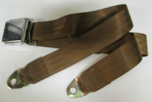 Copper Seat Belt 2 Point Non Retractable Copper Brown Lap Seat Belt 74