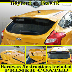 2012 2019 Ford Focus Hatchback St Factory Style Spoiler Roof Wing Fin Primer