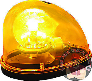 Buyers Products Amber Incandescent Teardrop Revolving Light Rl650a