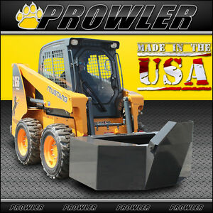 Prowler 1 2 Yard Cement And Concrete Bucket With Spout For Skid Steer Loaders