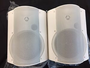 Speakers Wall Mount Powered Great For Home Audio Or Classroom Projectors New
