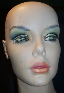 Vintage Full Body Female Mannequin W Stand Painted Face