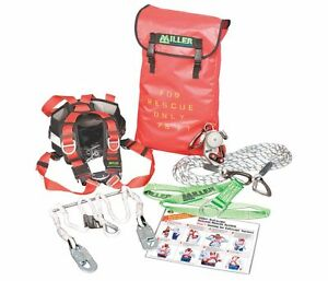Miller Secrkt 300ft Safescape Elite Rescue descent Device rdd Kit 300 Ft L